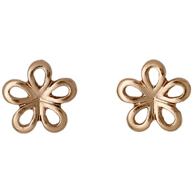 Pilgrim Flower Stud Earrings Rose Gold Plated 261544063
