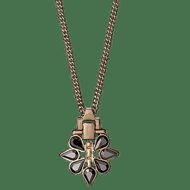 Pilgrim Significant Necklace Rose Gold Plated + Hematite 40 + 8 cm 211544111