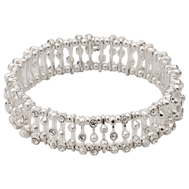 Pilgrim Bracelet Silver Plated Crystal 60143-6042