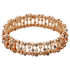 Pilgrim Bracelet Rose Gold Plated Crystal 60143-4142
