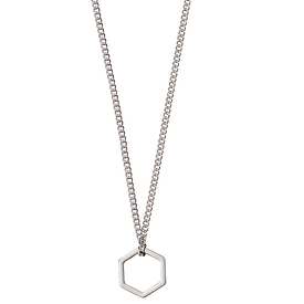 Pilgrim Cubes Necklace Silver Plated 50cm + 8cm 131526021