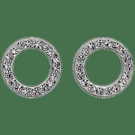Pilgrim Crystal Circuit Stud Earrings Silver  Plated 161526003
