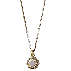 Pilgrim Dearest Necklace Gold Plated Rose  40cm + 8  18151-2701
