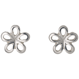 Pilgrim Flower Stud Earrings Silver Plated 261546063