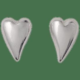 Pilgrim Heartbeat Heart Stud Earring Silver Plated 18144-6003