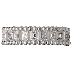 Pilgrim Bracelet Silver Plated Crystal 601336082