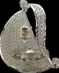 Silver Metallic Tray Set