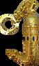 Yemeni inspired Golden perfume bottle keychain