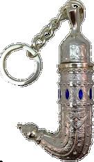 Yemeni inspired Silver perfume bottle keychain