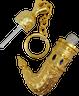 Dagger Keychain Perfume bottle - Yemeini Inspired