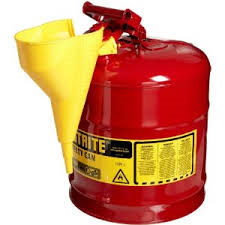 Safety Gas Can >> Justrite 5 Gal Red Safety Gas Can Type I With Funnel 7150110