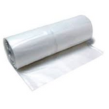 CLEAR PLASTIC SHEETING - 4 mil / 20' x 100'