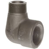 "1/2"" Street Elbow 90 Degree - 3000lb Forged Steel  ***Clearance Item - Price Good While Supplies Last***  - Street elbow for connecting a threaded pipe with the same diameter  - Female National Pipe Taper (NPT) threads for connecting to male threaded pipes  - Forged steel for weldability, rust resistance, and durability with a galvanized finish for a protective coating  - Class 3000 fitting for use in high-pressure applications"