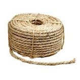 "1/4"" x 1500' SISAL ROPE (30lbs) - ***Clearance Item - Price good while supplies last***  - Economical. Bundling for home, farm or shipping.  - Moderate strength. Pliable.  - Easy to grip and knot.  - Biodegradable."