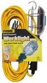 PRIME WIRE AND CABLE TROUBLE LIGHT WITH METAL GUARD 50 FT. 16/3