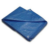 12 X 16 LAMINATED WATERPROOF BLUE POLY TARP - 1216