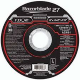 "FLEXOVIT 6"" X .045 X 7/8 THIN DEPRESSED CENTER CUTOFF WHEEL TYPE 27 A2481"