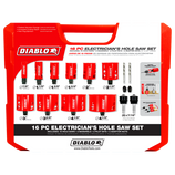 DIABLO 16 pc Electrician's Bi‑Metal Hole Saw Set