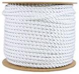 3/8 X 600' TWISTED WHITE NYLON ROPE