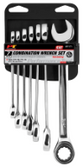 PERFORMANCE TOOL 7 PIECE RATCHETING SAE WRENCH SET 1171