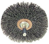 "WEILER 3"" CRIMPED WIRE WHEEL BRUSH - .014 STAINLESS STEEL 17618"