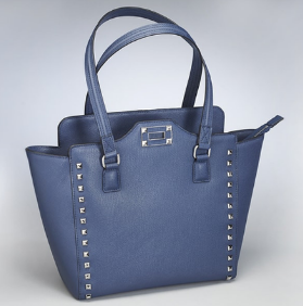 Blue Studded Concealed Carry Tote