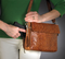 Beautiful tooled cowhide is super stylish as concealed carry purse for women