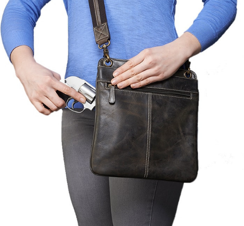 Flat style gives this cross body a sleek design