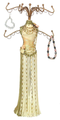 Ivory CockTail Dress Mannequin Jewelry Hanger #168