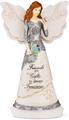 "Friendship 8"" Angel Holding Butterfly Figurine"