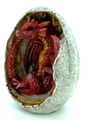 Red Dragon Hatchling In Egg Casing Statue Figurine
