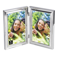 Cupecoy Double Bevel Silver Plated Metal Photo Frame