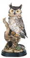 Owl Perching Collectible Wildlife Animal Figurine Statue