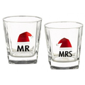 "Grasslands Road Mix N' Mingle Whiskey Glasses  Set Of 2 ""Mr & Mrs"""