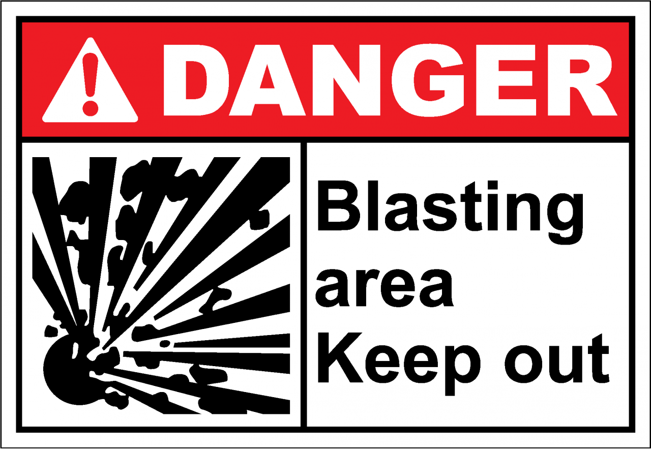 Danger Sign Blasting Area Keep Out Safetykore Com