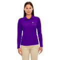 Reel Time Ladies Long Sleeve Performance Polo Shirt