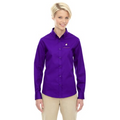 Reel Time Ladies Long Sleeve Twill Shirt