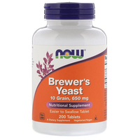 Now - Brewer's Yeast 650mg, 200 Tablets ( exp 09/2021)