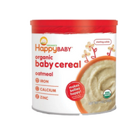 Happy Baby Organic Baby Cereal, Oatmeal  (7oz/198g) Exp Sep 2021