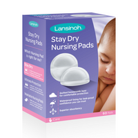 Lansinoh - Disposable Nursing Pads, 60 Individually Wrapped Pads (1 Box)