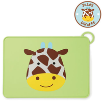 Skip Hop - Zoo Fold & Go Little Kids Silicone Placemats, 7 Colours