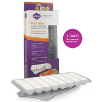 milkies - Breastmilk Freezing Trays, 2 Reausable Trays (30ml)