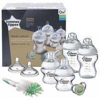 Tommee Tippee - Closer to Nature Newborn Starter Set/Kit, 0m+ (Z423553)