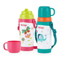 Nuby - Stainless Steel Click-it Store n' Pour, 360ml (2 Colours)