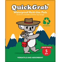 QuickGrab - Waterproof Multi-use Pads (Pack Of 5)