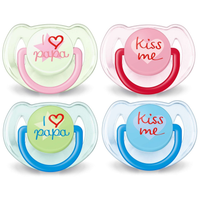Philips Avent - Soother Fashion BPA Free Twin Pack, 6-18M (2 Colours)