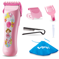 Yijian - Girls Waterproof Hair Clipper, Pink (G820S)