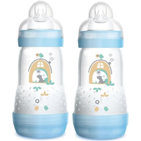 MAM - Easy Start Anti Colic Bottle 260ml, Double Pack (5 Colours)