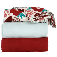 Tula Blanket Set - Poinsettia