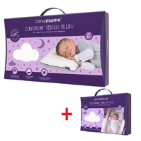 Clevamama ClevaFoam Toddler Pillow(3103) + Pram Pillow(3101) Bundle